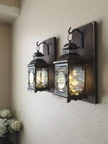 Etsy Hanging Lantern Sconces, Farmhouse Wall Decor, Lantern Sconces, Black, Lanterns, Wood Sconce with La