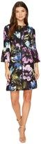 Christin Michaels Augusta Bell Sleeve Floral Dress Women's Dress