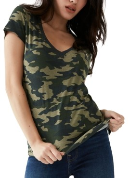 True Religion Camo-Print Logo T-Shirt