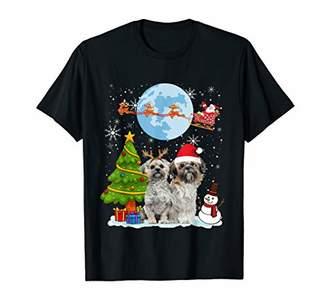 Shih Funny Tzu Christmas Moon Santa Dog Gift T-Shirt