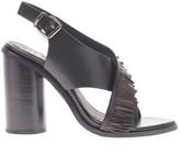 Sole Society Casey Heel Fringe Slingback Sandal