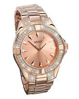 Seksy Personalised Rose-tone Watch
