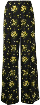 Emilia Wickstead Floral Print Wide Leg Trousers