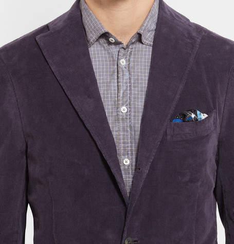 Boglioli Purple Slim-Fit Stretch-Cotton Corduroy Blazer