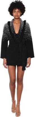 Alanui Crystal Embellished Wool Blend Jacket