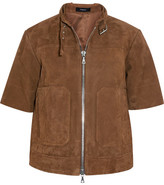 Theory Lavzinie Suede Jacket - Camel