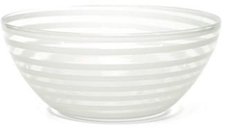 Yali Glass - A Nastro Small Glass Serving Bowl - White