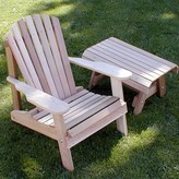 Adirondack Tillison Wood Chair with Table August Grove Color: No Finish