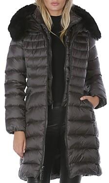 Dawn Levy Milly Shearling Trim Puffer Coat