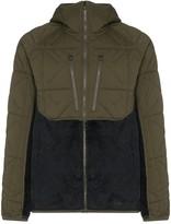 Burton AK green Cavu Hybrid hooded jacket