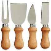 Prodyne Wooden Handle Cheese Knives (Set of 4)