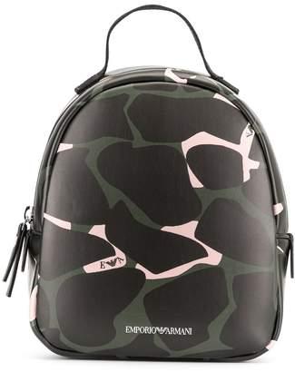 Emporio Armani Kids camouflage print backpacks