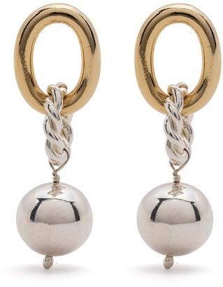 Isabel Lennse Mixed-Tone Drop Earrings