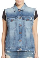 Genetic Los Angeles Indie Distressed Denim Vest