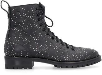 Jimmy Choo Cruz Studded Leather Combat Boots