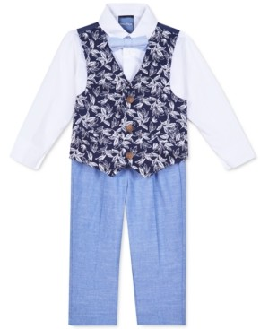 Nautica Baby Boys 4-Pc. Shirt, Printed Vest, Pants & Bow Tie Set