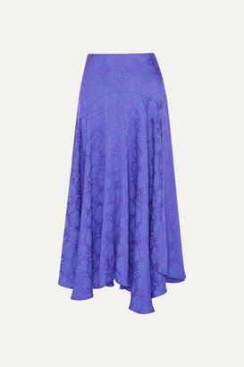 Chloé Plissé-jacquard Midi Skirt - Violet