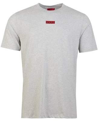 HUGO Durned194 Small Chest Logo T-shirt Colour: BLACK, Size: MEDIUM