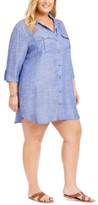 Thumbnail for your product : Dotti Plus Size Travel Muse Shirt Cover-Up Dress Women's Swimsuit