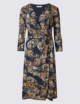 Marks and Spencer Paisley Print 3/4 Sleeve Fit & Flare Dress