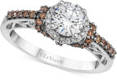 LeVian Le Vian® Chocolatier Diamond Engagement Ring (1-1/6 ct. t.w.) in 14k White Gold