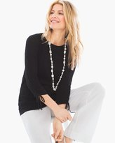 Chico's Crinkle Tie Pullover