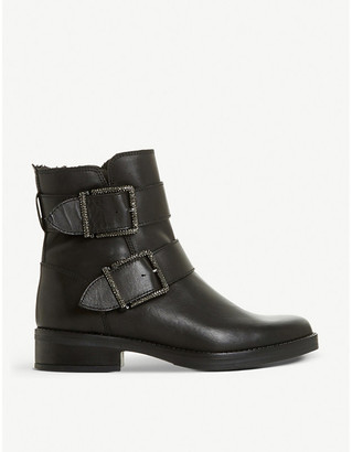 Dune Qualify embellished leather ankle boots