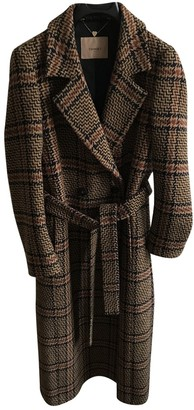 Twin-Set Twin Set Brown Wool Coat for Women
