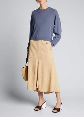 Tibi Spring Cashmere Open-Sleeve Sweater