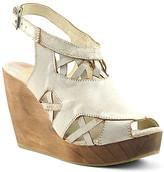 Volatile Women's Sandals OFF - Ivory Cutout Vartex Leather Slingback Wedge Sandal - Women