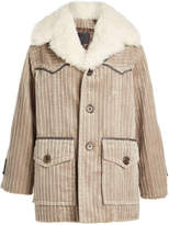 Marc Jacobs Corduroy Coat with Shearling