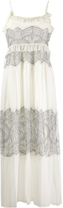 Twin-Set Lace-Panelled Dress