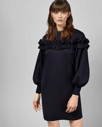 Ted Baker Satin Ruffle Dress