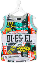 Diesel mixed print top - kids - Cotton/Polyester - 8 yrs