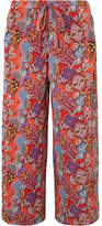 Etro Printed Silk Crepe De Chine Pants - Red