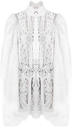 ATTICO Lace-Pattern Mini Dress