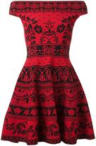 Alexander McQueen floral jacquard mini dress - women - Cotton/Polyamide/Polyester/Viscose - S