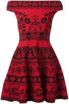 Alexander McQueen floral jacquard mini dress - women - Cotton/Polyamide/Polyester/Viscose - XS