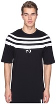 Yohji Yamamoto M 3 Stripe Short Sleeve Tee Men's T Shirt