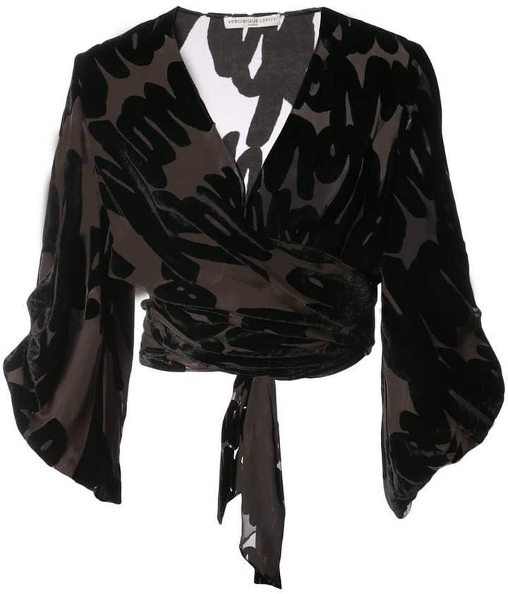 Leroy Veronique wrap blouse