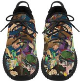 Angelinana Angelinan Custom Toy Story Characters Women's Breatheable Woven Fashion Running Shoes