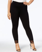 MICHAEL Michael Kors Size Lace-Trimmed Leggings