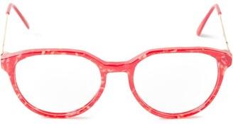 Yves Saint Laurent Pre Owned Marbled Glasses