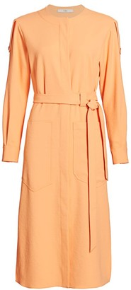 Tibi Chalky Draped Cargo Shirtdress
