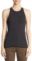 A.L.C. Matt Stripe Cotton Tank Top