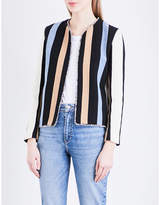 Sandro Striped twill jacket