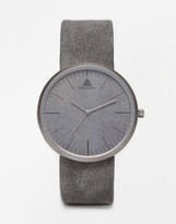 Asos Sleek Watch in Gray Concrete Look