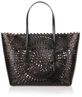 Alaia Black medium laser-cut bag