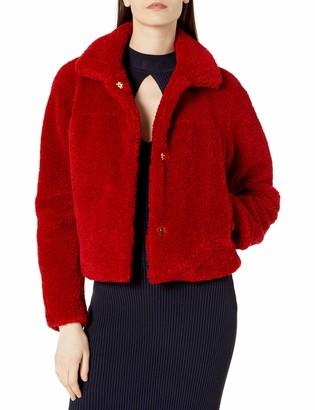Milly Women's Tricot Faux Lamb Fur Ellery Jacket