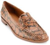 Lauren Ralph Lauren Barrett Prinked Snake Leather Penny Loafers